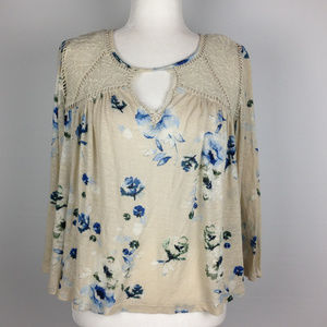Lucky Brand Women's front keyhole top